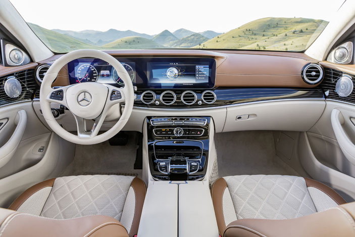 The exclusive interior of the E-Class