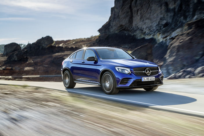 Mercedes-Benz GLC Coupé, brilliant blue;