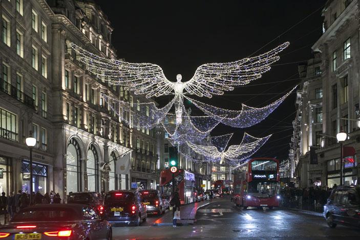 Brexit hasn't dampened the Christmas spirit on Regent Street, London, UK. Photo: Elena Rostunova / Shutterstock