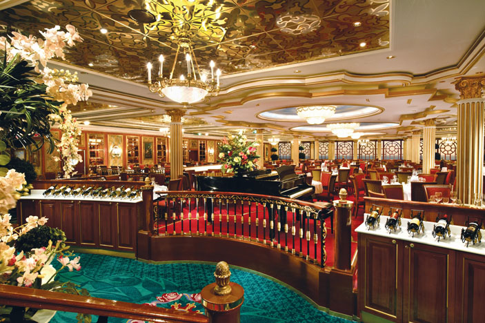 Wining and dining are among the onboard attractions.