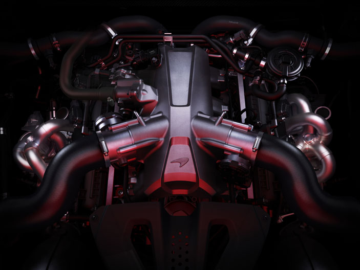 The 4.0-litre V8 whips out 720PS.