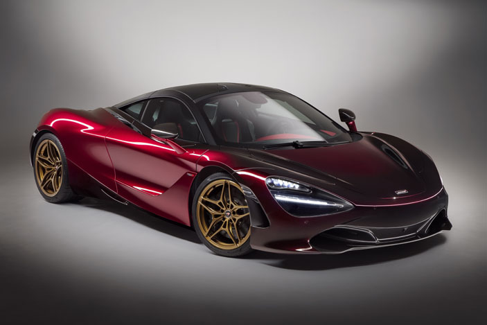 The McLaren 720S MSO in dynamic hues of red.