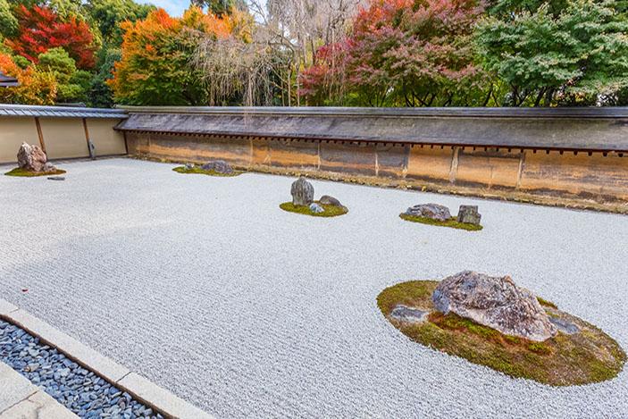 Ryoan-Ji temple, Kyoto, Japan.