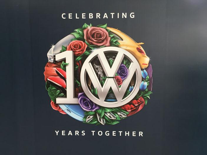 VW 10th anniversary celebration