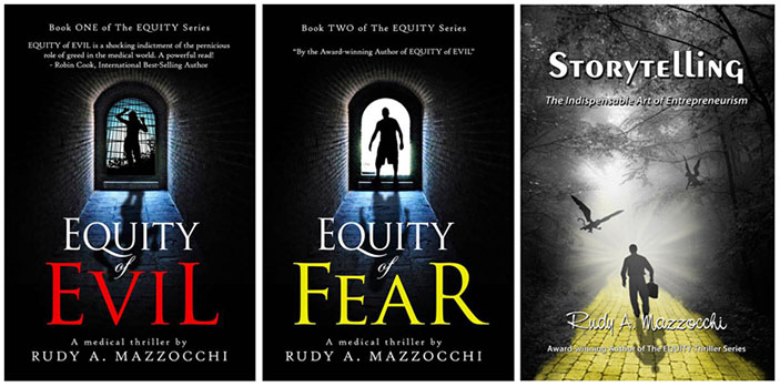 Rudy Mazzocchi, Equity of Evil, Equity Of Fear, Storytelling