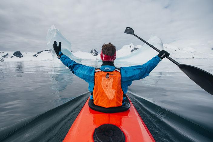 Lewis Pugh in Antarctica