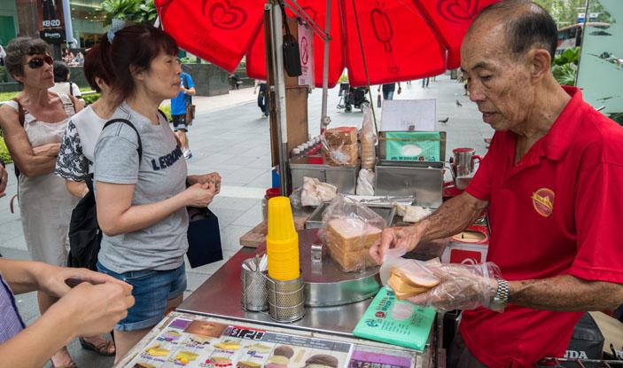 ice-cream vendor, Orchard Road.