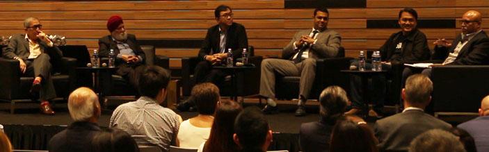 Chong Huai Seng, Prof Kirpal Singh, Ku Swee Yong, Kamal Samuel and Clemen Chiang, STORM.SG publisher Kannan Chandran, Charger Award