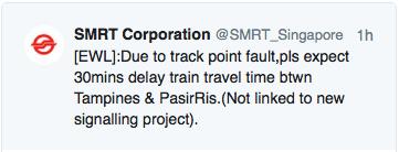 SMRT train delay