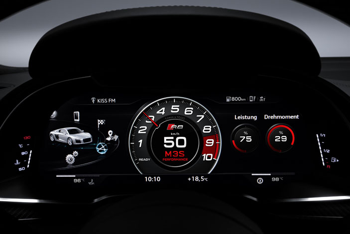 Audi R8 Spyder virtual cockpit