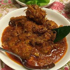 Chicken Kapitan Nonya Bong The Peranakan