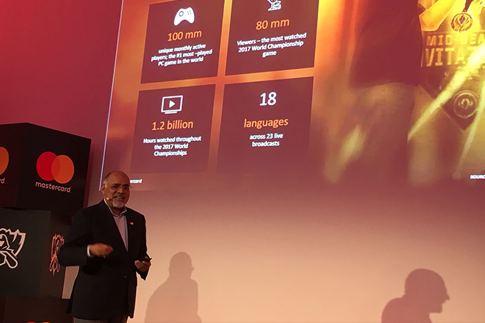 Raja Rajamannar, mastercard, league of legends