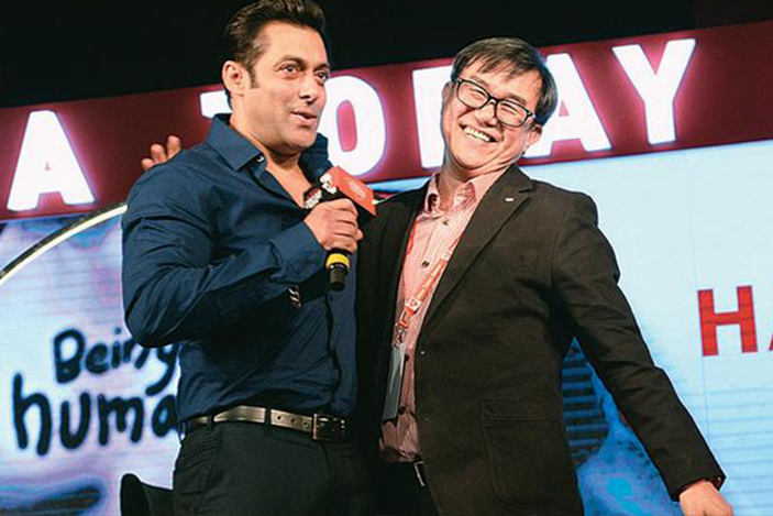 Bollywood actor Salman Khan helped raise US$140,000 for Jack Sim's WTO, in 2013.