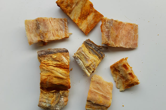 salted fish bones