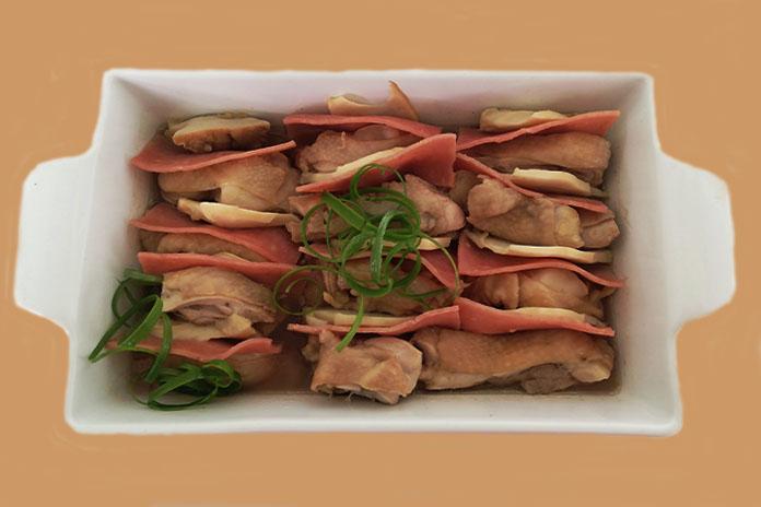 abalone ham chicken
