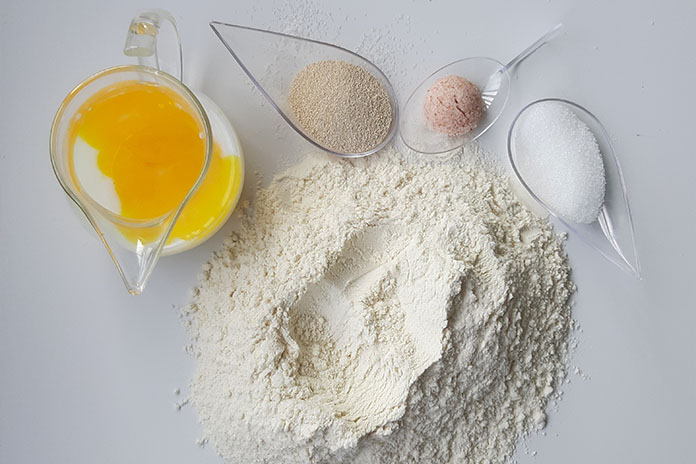 flour, eggs, ingredients