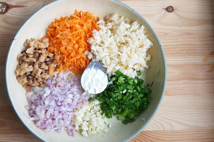 mixed vege prep