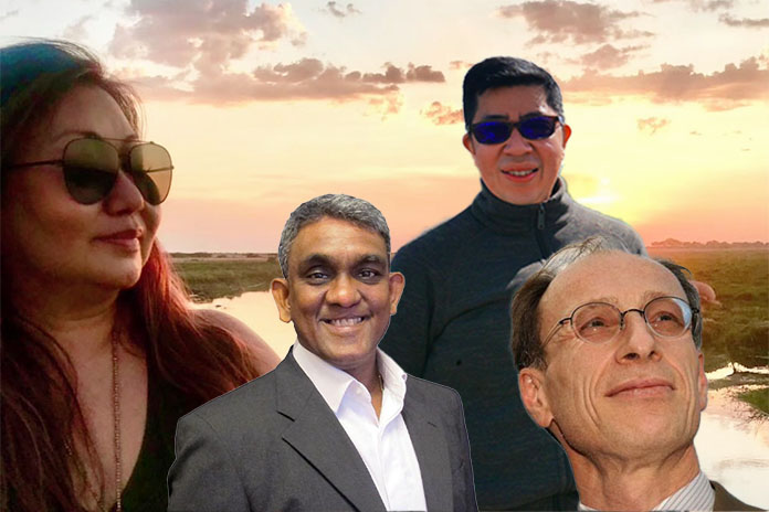 L-R: Monica Alsagoff, Dr Sundardas Annamalay, Victor Dizon and Dr Thierry Apoteker
