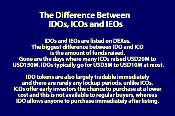 IDO, ICO, IEO difference