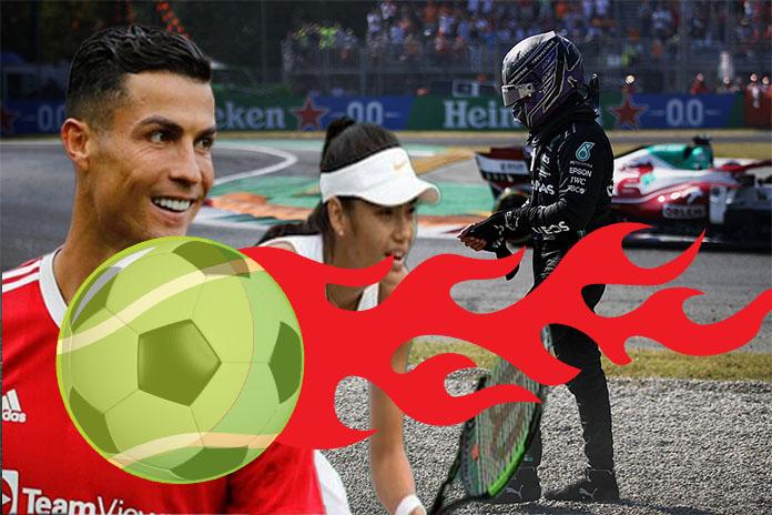 Emma Raducanu, Cristian Ronaldo, Lewis Hamilton